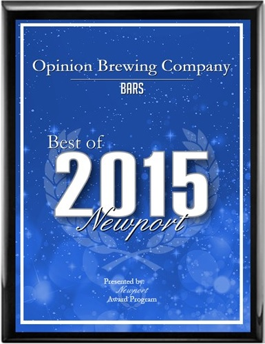 Opinion Brewing Company Receives 2015 Best of Newport Award